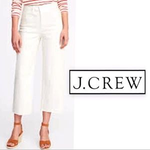 J. Crew Favorite Fit, White Chino Stretch Capris